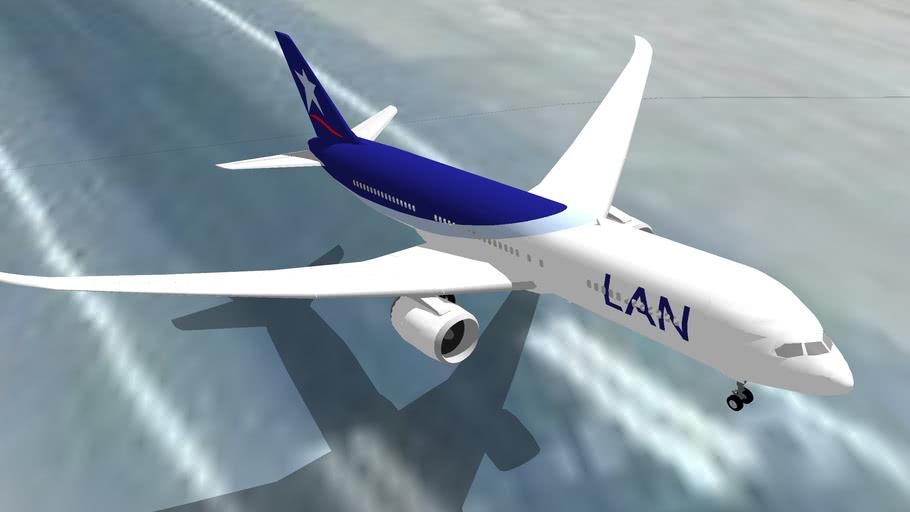 LAN Airlines Boeing 787 despegando de Lima, Perú.