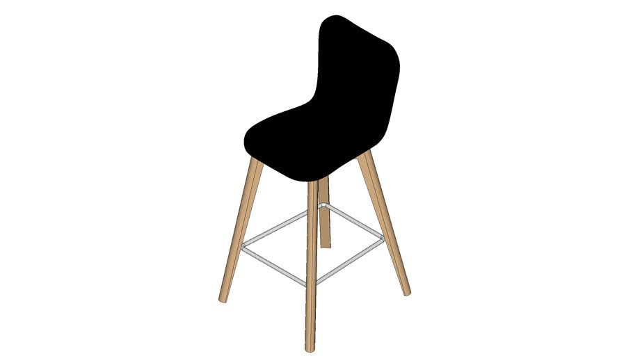 Lily counter stool Oak base