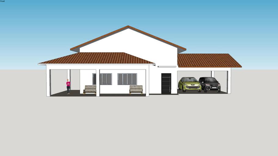 Modelo + casa + térrea + house