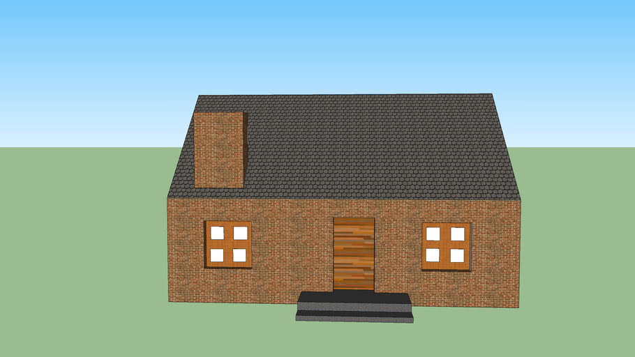 Sketchup House in Tutorial 1