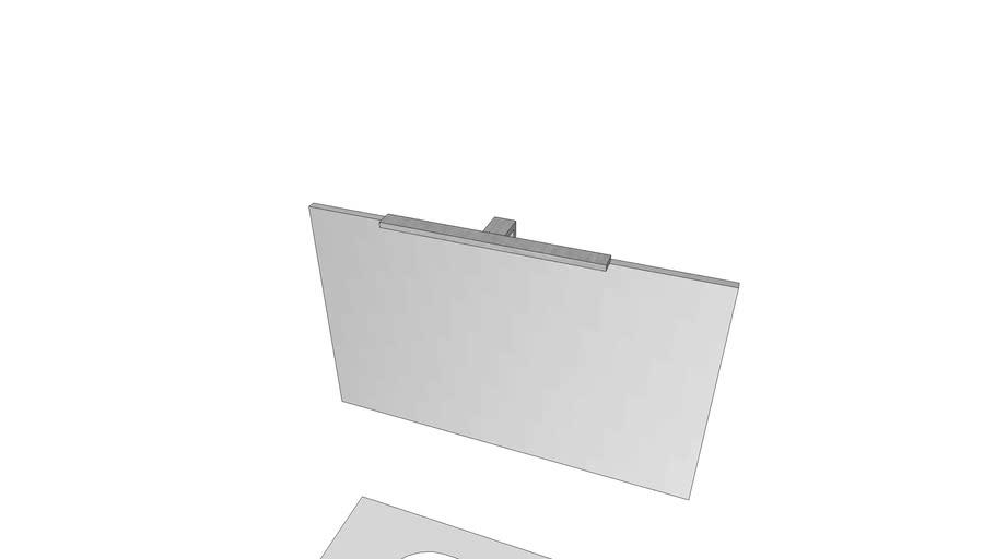 Fyn 100cm med speil hvit HG