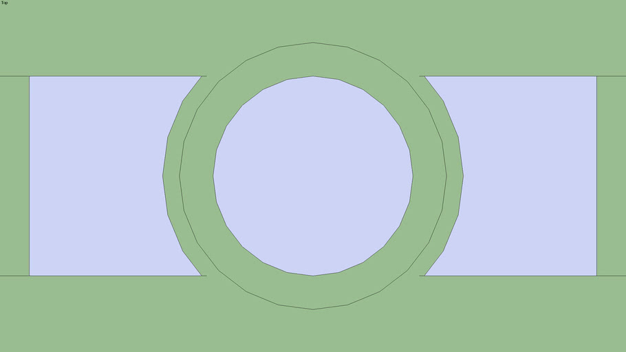 2D_Water_Pipe_1_2 Tee_Vertical_Riser