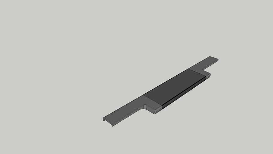 Puxador Facetato Reto RM 183