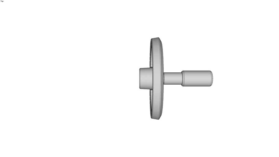 Volant deux bras aluminium pellucul� gris-argent - Moyeu lissse - Avec poign�e