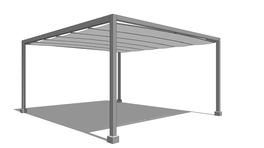 Aluminum Structure with Retractable Canopy