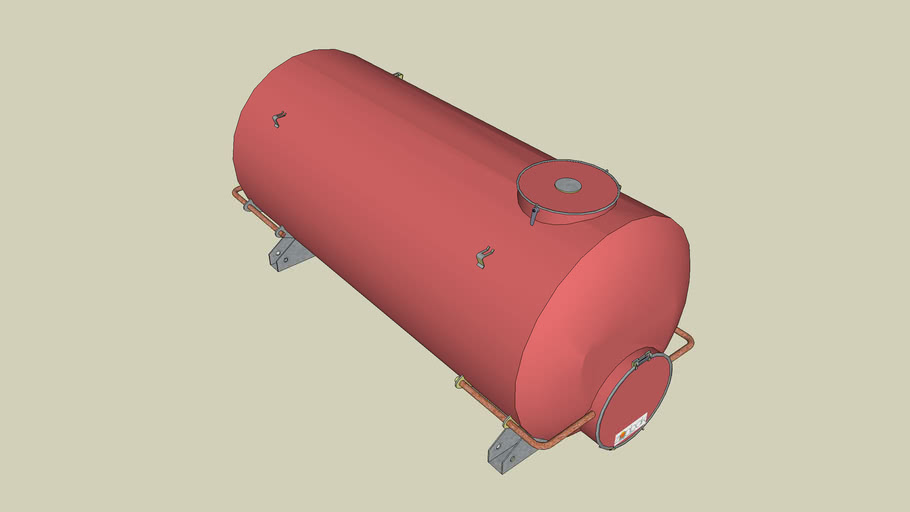 500 GALLON INSULATED HOT WATER TANK