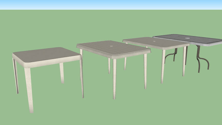 Outdoor tables set