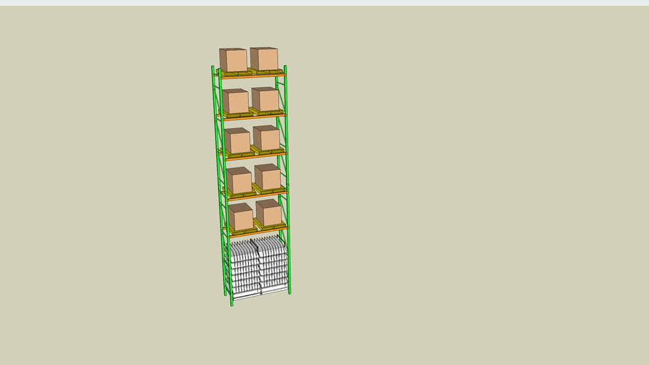 Porta Pallet com Floe Rack by FSM
