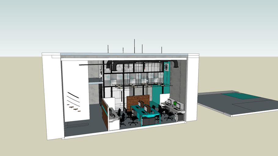 Small Office Interior 3d Warehouse