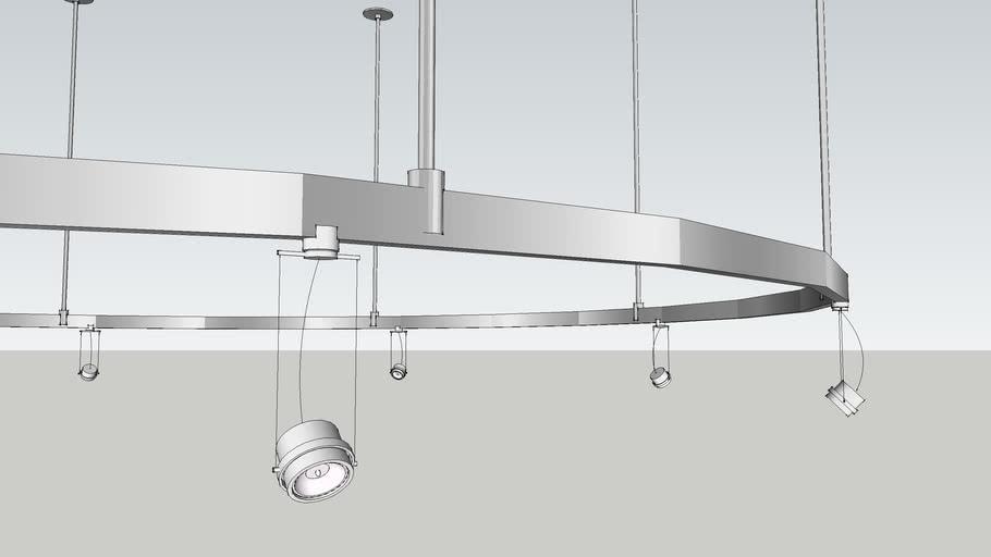 8 Round Track Light System Warehouse