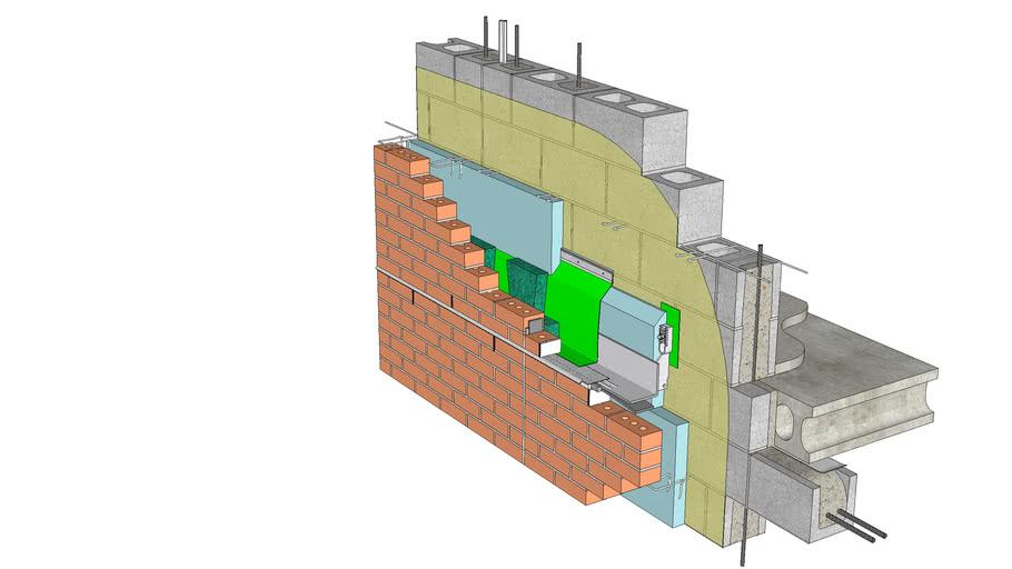 01.030.0705 Shelf Angle | Anchored Brick Veneer, CMU Backing, Shelf Angle w/ Bracket-Type Standoff