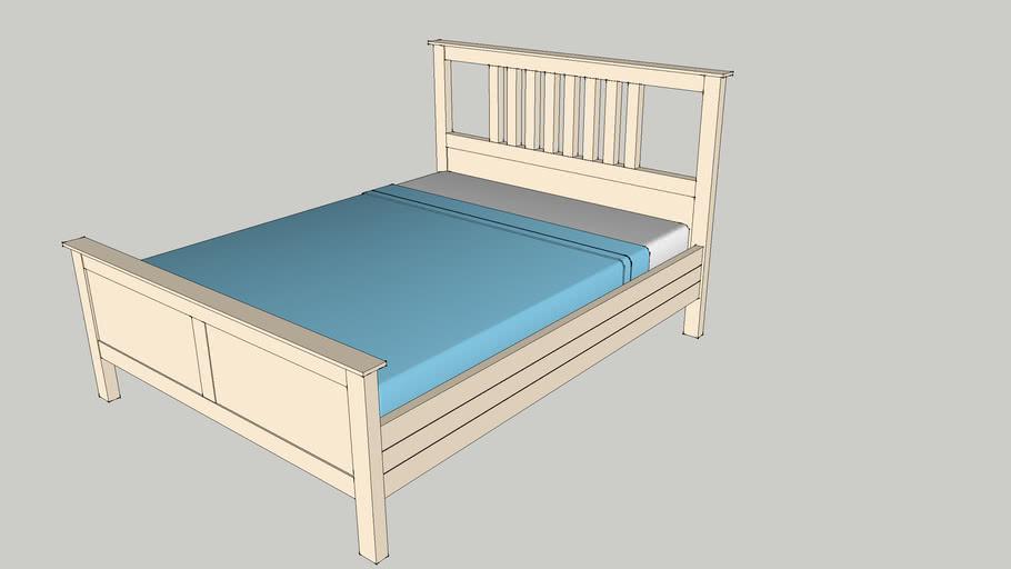 Ikea Hemnes Bedbank.Ikea Hemnes Bed 3d Warehouse