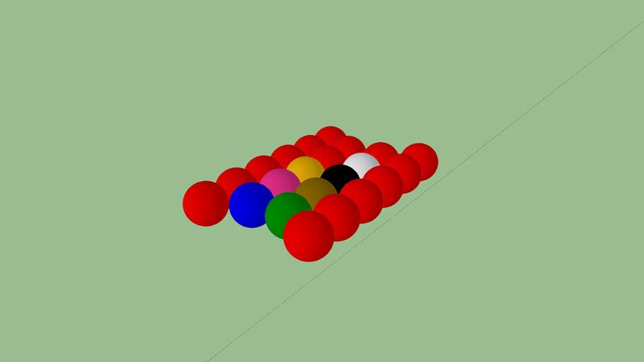 Balles for snooker