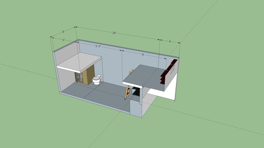 Tiny House Floor Plan Tiny House Quest 3d Warehouse