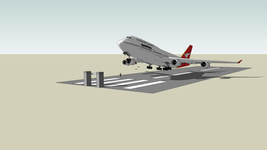 Qantas taking off