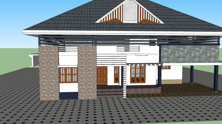 Flat Roof With Truss 3d Warehouse