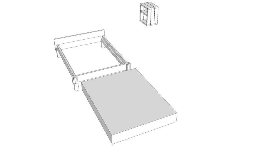 Unfinished bedroom set