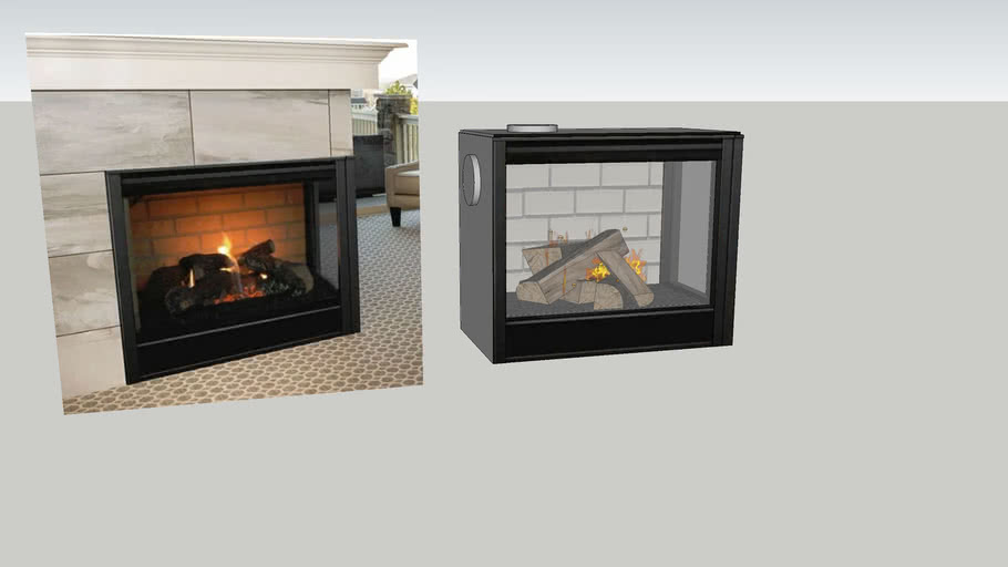 Majestic Corner Series Direct Vent Gas Fireplace 3d Warehouse