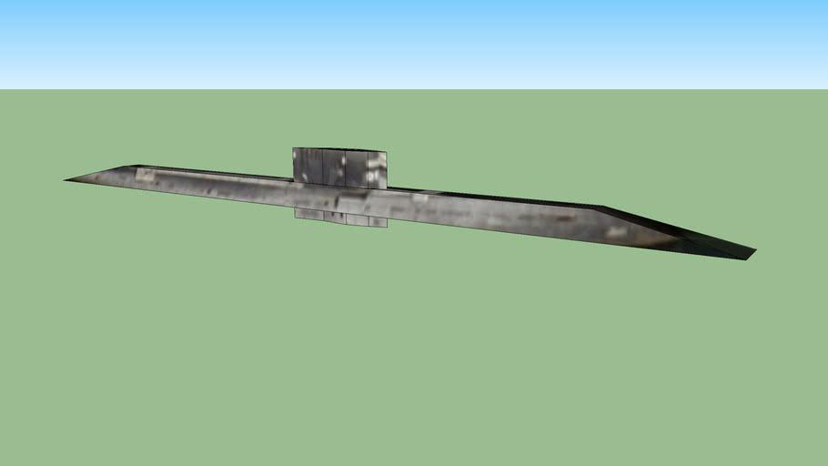 Soviet Foxtrot Submarine B-39 in San Diego, California, USA