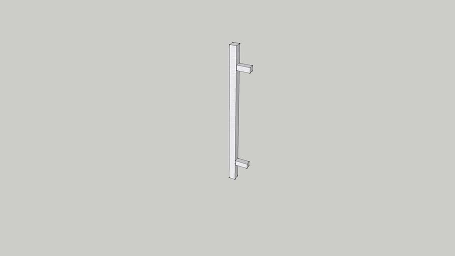 Contemporary metal pull #321 160mm c/c