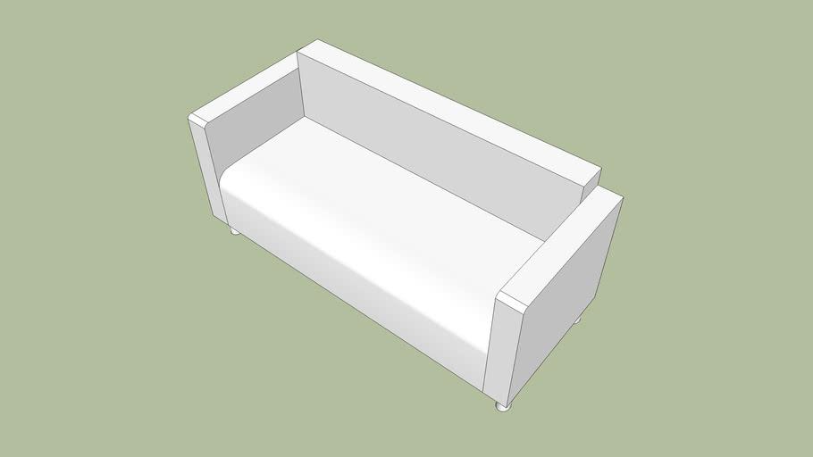 sofá simples 3 lugares