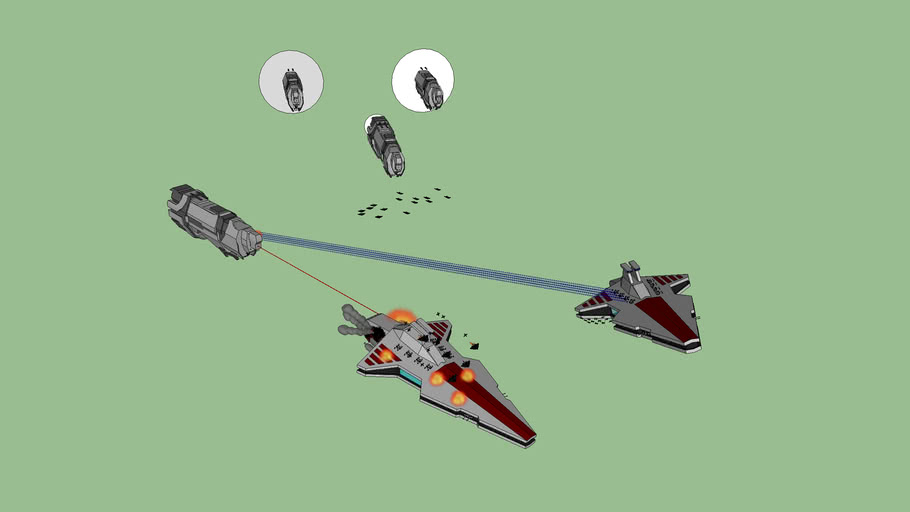 UNSC Cruisers vs Republic Star Destroyers