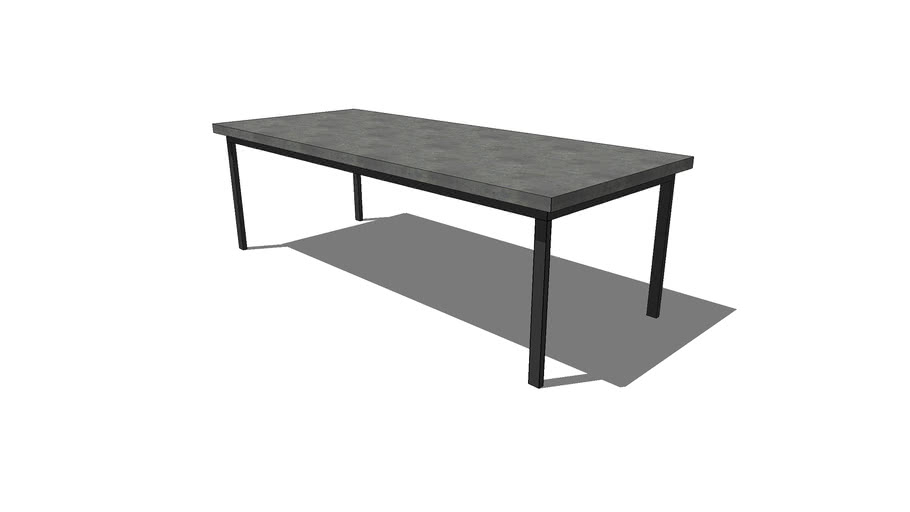 HCD – 96x40 Standard Dining Table w/1x2 Tube Steel