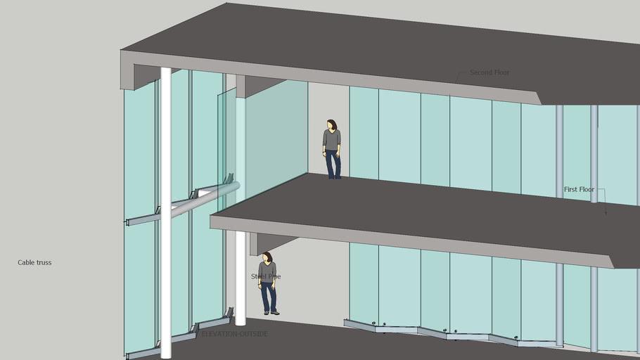 spider glazing two floor high