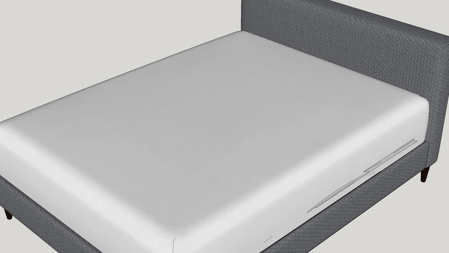 Mueller Upholstered Platform Bed