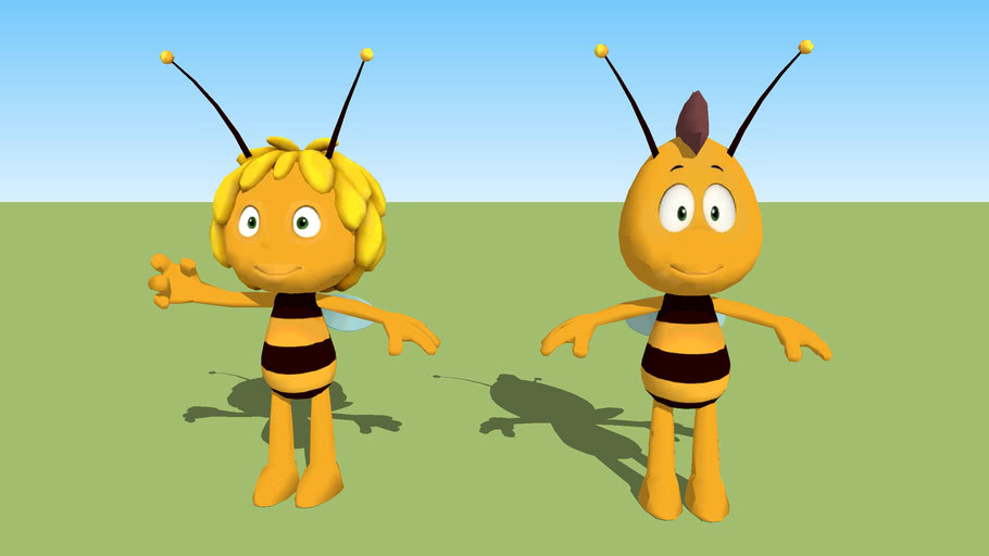 Maya the bee and Willy.