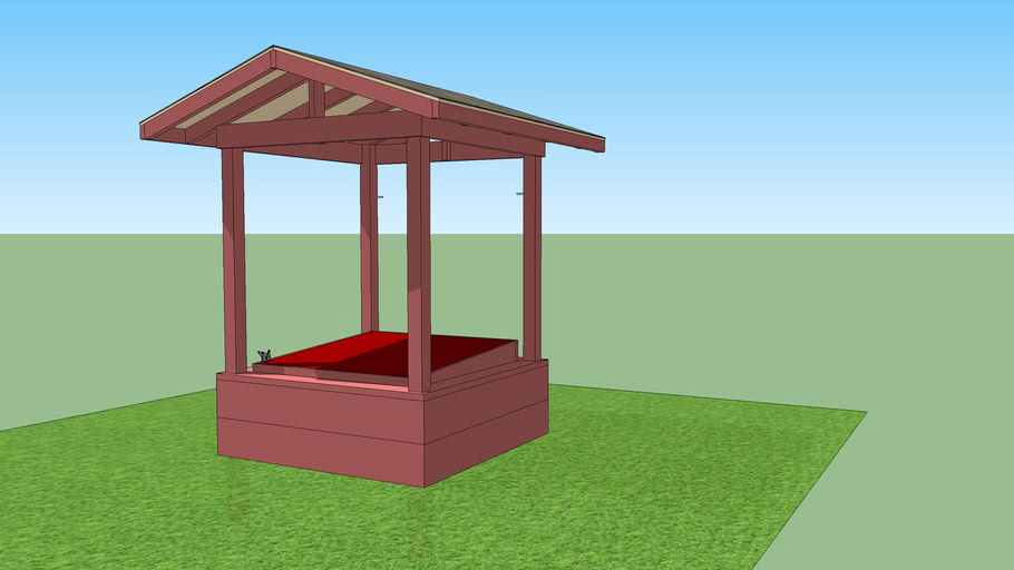 Sand Box with roof and cover