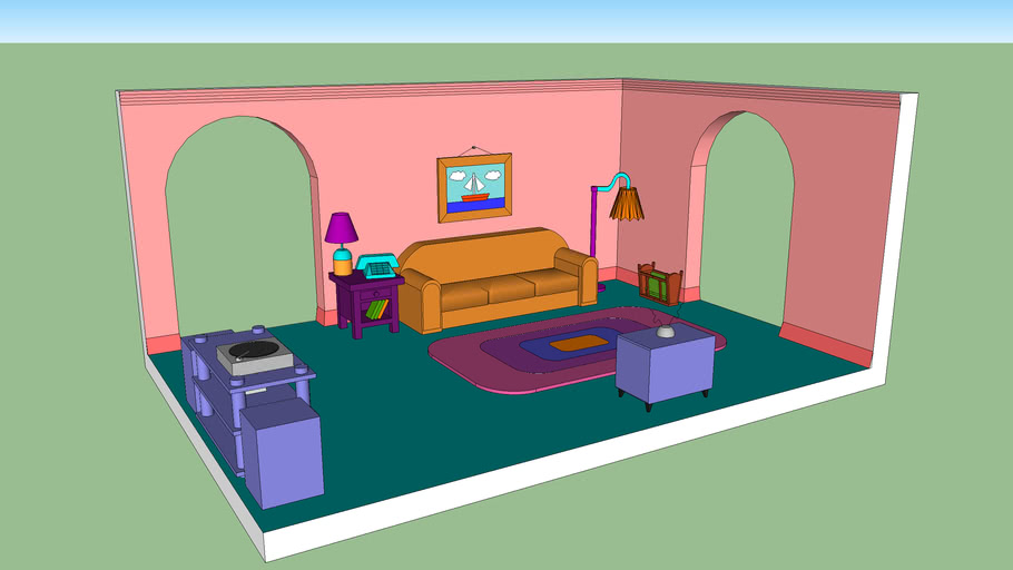 The Simpsons Living Room Set - Made By Lewis071 | 3D Warehouse