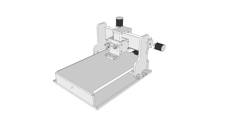 Hobby CNC with Proxxon Micromot drill mount