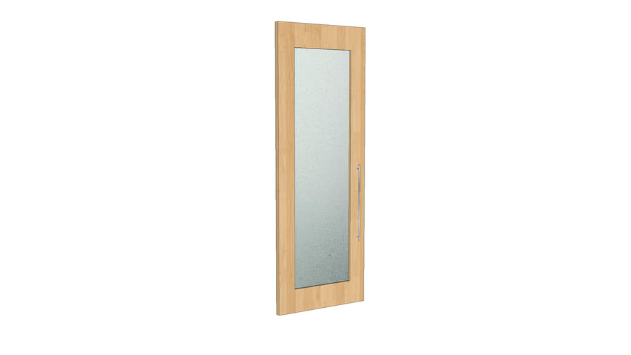 9 Modern Door w/ Frosted Glass - Maple