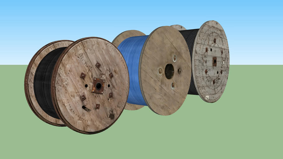 Industrial cable reel set