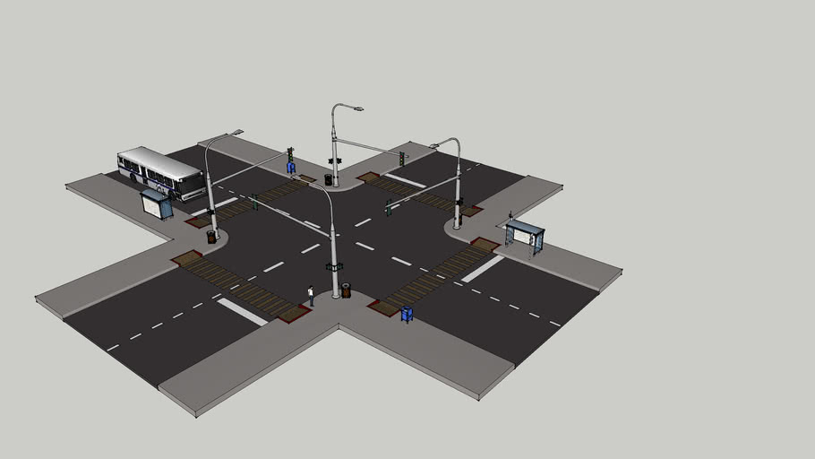 Street Intersection with Building