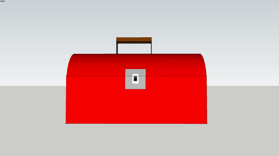Classic Red Construction Worker's Toolbox
