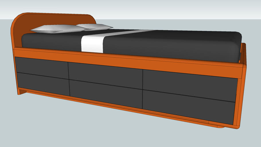 Tall storage bed