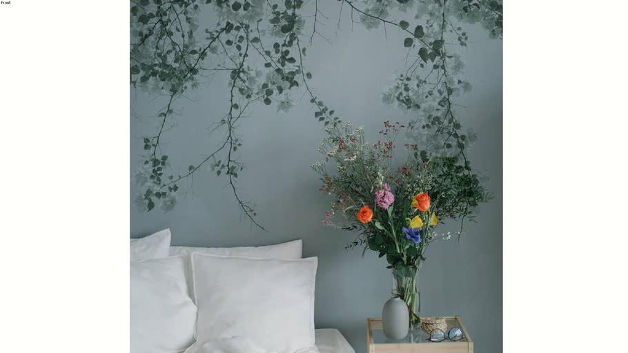 Papier peint panoramique Acte-Deco Blurry green