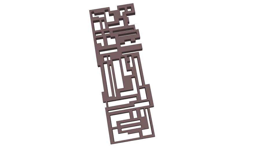 Quadro Abstrato - Frame Abstract