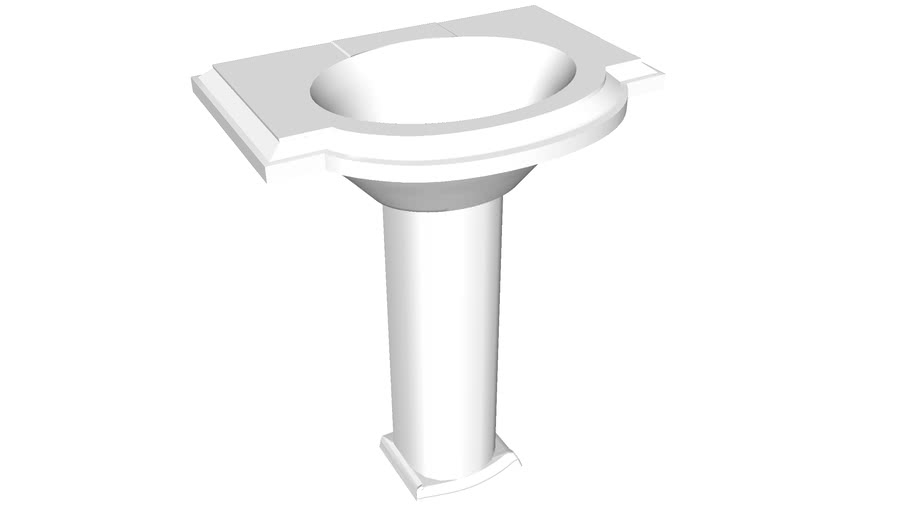 "K-2294-8 Devonshire(R) 27"" pedestal bathroom sink with 8"" widespread faucet holes"