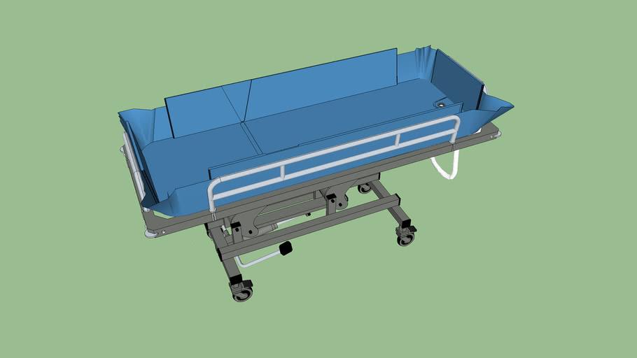 Barella BR32 Adult Shower Trolley_hydraulic