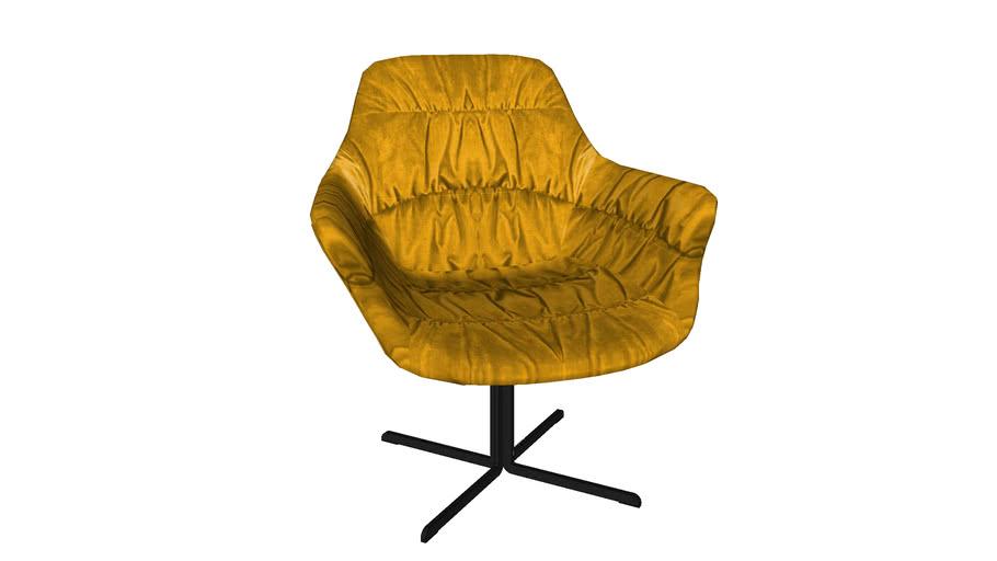 80042 Swivel Chair Colmar Yellow
