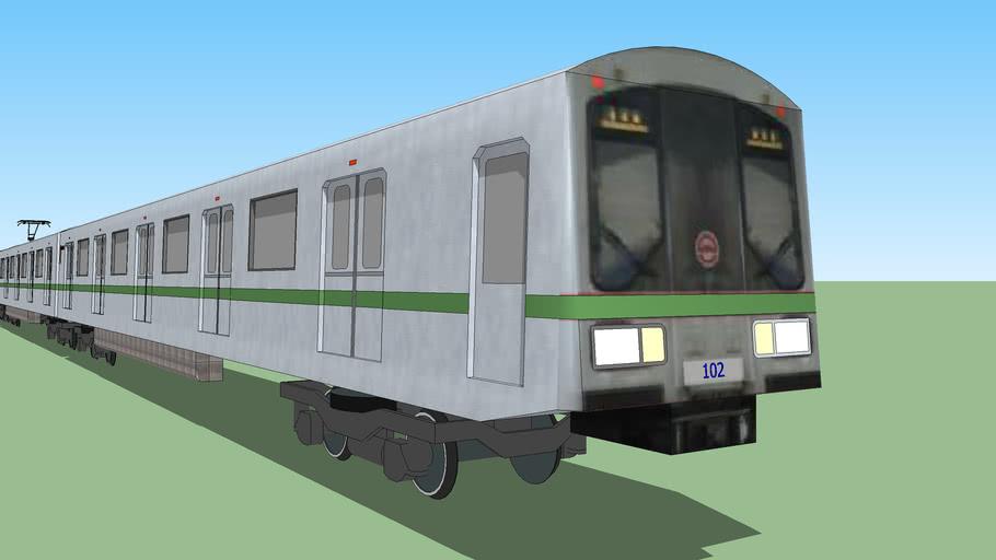 Shanghai Metro Line 2 AC-01 Train (SIEMENS Company)