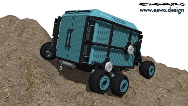 Tortruga. Mango 0.1. Humanitarian cargo robot