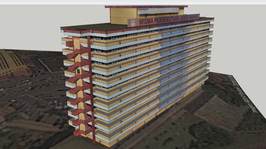 Wisma Persekutuan Johor Bahru Malaysia 3d Warehouse