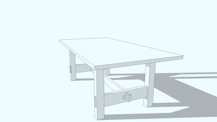 No. 622 Stickley Trestle Table