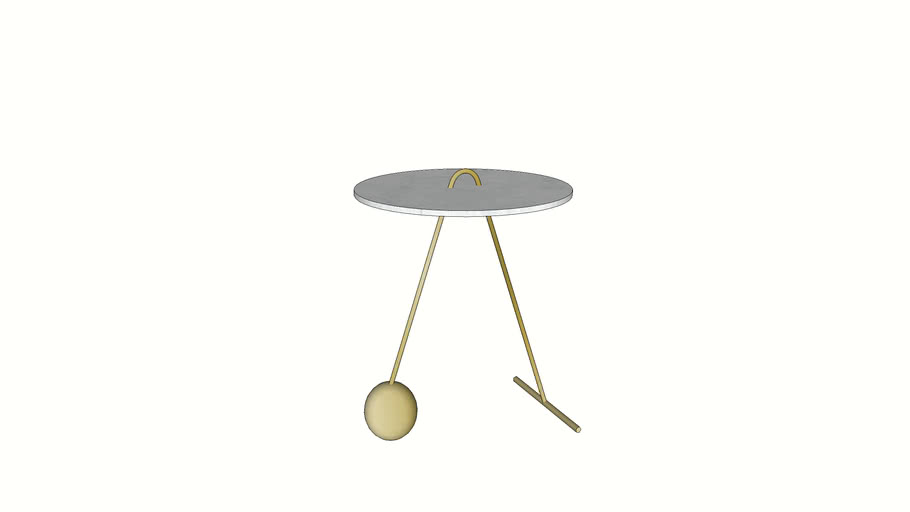 84845 Side Table Touch Duo Marble White 46cm