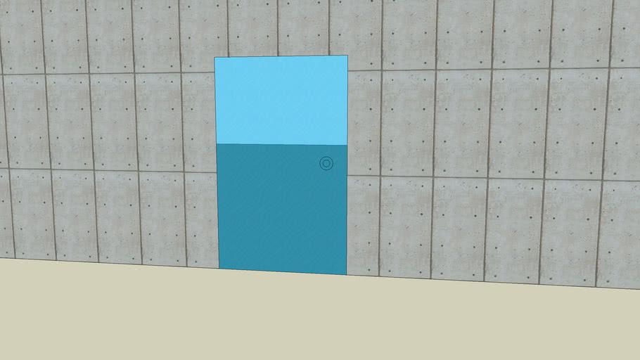 Simple brick and glass building with no inteirior