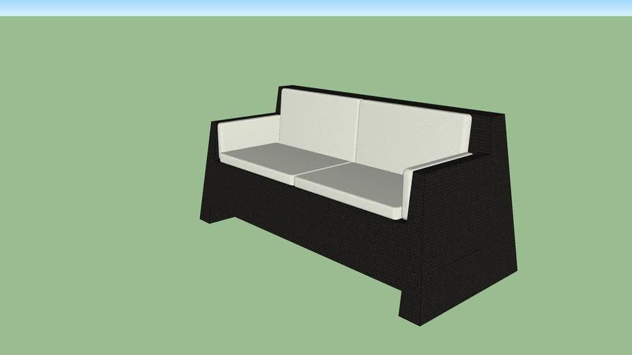 black garden collection: sofa